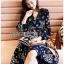 เสื้อผ้าแฟชั่นเกาหลี Lady Ribbon's Made Lady Monica Floral Patterned Printed Wrap Dress thumbnail 1