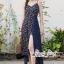 เสื้อผ้าแฟชั่นเกาหลี Lady Ribbon Thailand Seoul Secret Say'...Summer Maxi Dress Single Line Floral Prints thumbnail 2