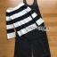 เสื้อผ้าแฟชั่นเกาหลี Lady Ribbon's Made Lady Victora Minimal Chic Striped Blue and Belted Overall Jumpsuit Set thumbnail 11