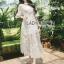 เสื้อผ้าแฟชั่นเกาหลี Lady Ribbon's Made Lady Natalie Little Princess High-Neck White Lace Long Dress thumbnail 3