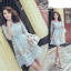 เสื้อผ้าแฟชั่นเกาหลี Fleur lace panel dress Odee&Cutie Daily Fashion 2017 thumbnail 1