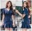 เสื้อผ้าแฟชั่นเกาหลี Lady Ribbon's Made Lady Maria Double-Breasted Ruffle Suit Cotton Dress thumbnail 3