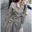 เสื้อผ้าแฟชั่นเกาหลี Lady Ribbon's Made Lady Smart Chic Twist Ribbon Shirt Dress thumbnail 8