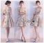 เสื้อผ้าแฟชั่นเกาหลี Lady Ribbon's Made Lady Erin Off-Shoulder Pink Flower Embroidered Tulle Mini Dress thumbnail 8