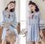 เสื้อผ้าแฟชั่นเกาหลี Normal Ally Present Embroidered Bohemian style dress thumbnail 1