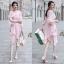 เสื้อผ้าแฟชั่นเกาหลี New Arrival … Don't Miss! Normal Ally Present Classy and Boutique sweet dress thumbnail 1