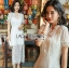 เสื้อผ้าแฟชั่นเกาหลี Lady Ribbon's Made Lady Alice Chinese Style White Lace Dress thumbnail 4