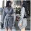 เสื้อผ้าแฟชั่นเกาหลี Lady Ribbon's Made Lady Smart Chic Twist Ribbon Shirt Dress thumbnail 7