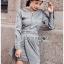เสื้อผ้าแฟชั่นเกาหลี Lady Ribbon's Made Lady Smart Chic Twist Ribbon Shirt Dress thumbnail 6