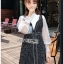 เสื้อผ้าแฟชั่นเกาหลี Lady Ribbon's Made Lady Marie Tweed Dress Over High-Neck Blouse Set thumbnail 3