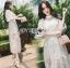 เสื้อผ้าแฟชั่นเกาหลี Lady Ribbon's Made Lady Natalie Little Princess High-Neck White Lace Long Dress thumbnail 6