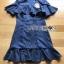 เสื้อผ้าแฟชั่นเกาหลี Lady Ribbon's Made Lady Maria Double-Breasted Ruffle Suit Cotton Dress thumbnail 5