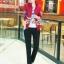เสื้อผ้าแฟชั่นเกาหลี Sweet Bunny Present... Butterfly Jacket Warm 3 Pieces Set thumbnail 1