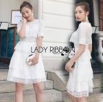 Lace Dress เดรสผ้าลูกไม้สีขาวตกแต่งเลเยอร์