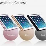 (iPad Air 1) ISYNAT เคสคีย์บอร์ดมีไฟ LED 7 สี หมุนได้ 360 องศา