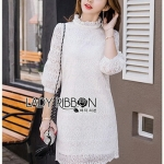 Lady Diamond Sweet White Lace Dress