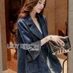 Lady Ribbon Denim Coat Dress