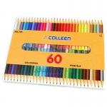สีไม้ COLLEEN แท่งกลม 2 หัว 60 สี