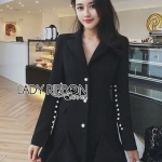 Smart Elegant Lady Ribbon Suit Dress