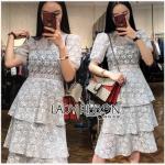 Lace Dress เดรสผ้าลูกไม้สีเทาอ่อน