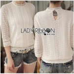 Lady Ribbon Basic White ผ้าลูกไม้สีขาว
