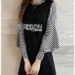 Plain Lady Ribbon Black Dress