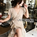 Star Velvet Ruffle Lady Ribbon Dress