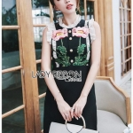 Lady Gloria Rosa Black Dress