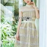 Lady Ribbon Dress เดรสสีเหลืองพาสเทล