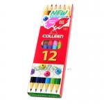 สีไม้ COLLEEN 2 หัว 12 สี