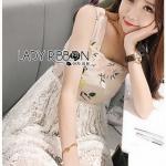 Cotton with Lady Ribbon Lace Dress