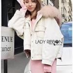 Lady Ribbon White Denim Jacket