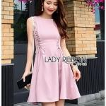 Lady Ribbon Pink Crepe Dress