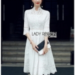Lady Maleeya Laser-Cut White Cotton