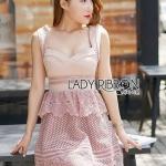 Pink Lace Lady Ribbon Dress