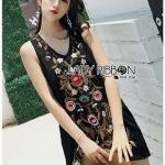 Lady Penelope Boho Black cotton Dress