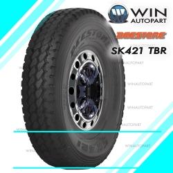 11R22.5 ยี่ห้อ DEESTONE รุ่น SK421 ยางรถบรรทุก เรเดียล TBR 146/143L H16 T/L