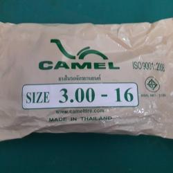 3.00-16 TR4 ยางใน ยี่ห้อ CAMEL (เทียบเท่า 90/90-16) ( 50 เส้น )