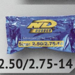 2.50/2.75-14 TR4 ยางใน ยี่ห้อ ND RUBBER (เทียบเท่า 70/90-14 หรือ 80/90-14)
