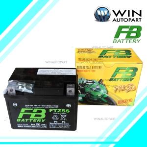 แบตเตอรี่มอเตอร์ไซค์ รุ่น FTZ5S ขนาด 3.5 แอมป์ ยี่ห้อ FB BATTERY