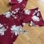 เดรสสีแดงเบอร์กันดีพิมพ์ลายดอกไม้สีขาว thumbnail 7