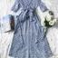 เสื้อเนื้อผ้าคอตตอนพิมพ์ลายริ้วคลาสสิคโทนสีฟ้า thumbnail 7