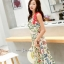 ชุดเดรสยาวเกาหลีผ้าพิมพ์ลายดอก thumbnail 7