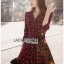 Lady Charlotte Red Tartan Ruffle Shirt Dress thumbnail 4