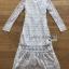 Maxi Dress เดรสยาวผ้าลูกไม้สีขาวทรงแขนยาว thumbnail 10