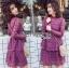 Lace Dress เดรสผ้าลูกไม้สีชมพูฟูเชีย thumbnail 3