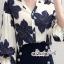 ผ้าชีฟองพิมพ์ลายดอกไม้ใหญ่สีน้ำเงิน thumbnail 2
