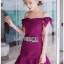 Color Ribbon Mini Peplum Dress thumbnail 2