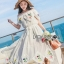 Lady Elise Summer Embroidered Chiffon Dress thumbnail 3