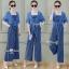 เสื้อคลุมจั๊มสูทงานเกาหลีเสื้อคลุมผ้าสีพื้น thumbnail 1